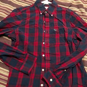 Abercrombie and Fitch plaid button down medium